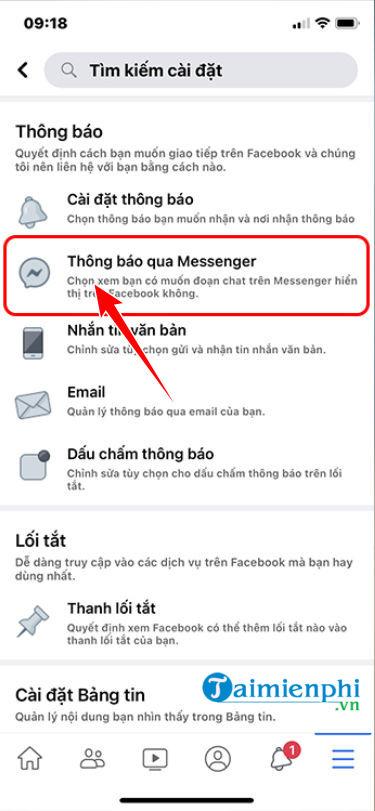 cach bat bong bong chat cua messenger tren iphone