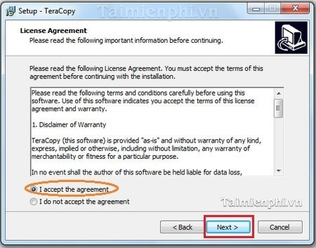 Install and use the TeraCopy accelerates data backup