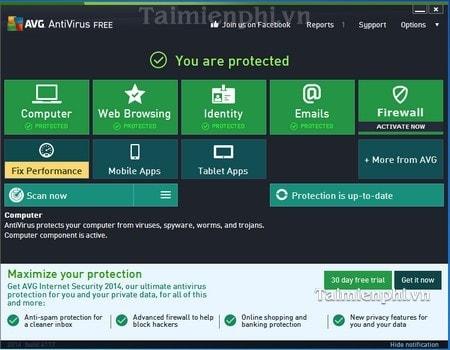 cach cai avg antivirus free edition