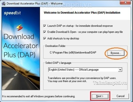 Hướng dẫn download, cài đặt Download Accelerator Plus tăng