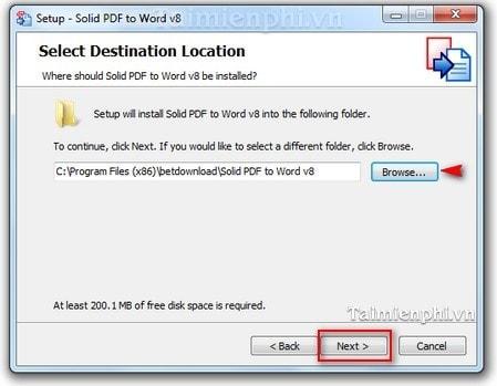 cai dat PDF to Word Converter tren windows