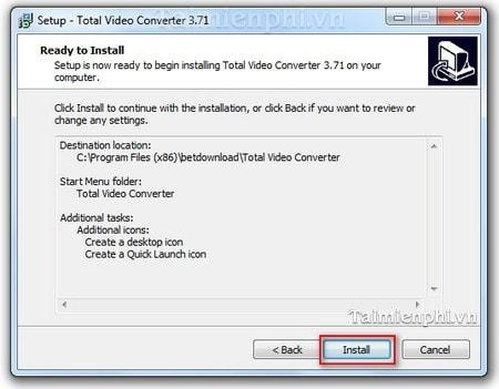 cai Total Video Converter tren windows