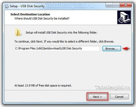cach cai dat usb disk security