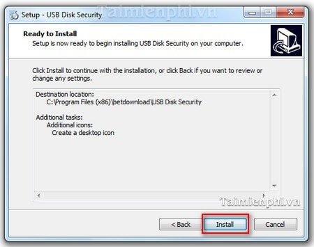 cach cai dat usb disk security tren windows