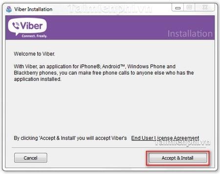 cai dat Viber for windows tren pc