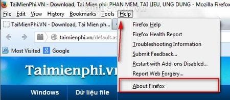 cach kiem tra phien ban firefox