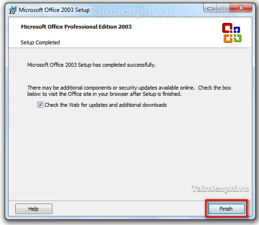 Cách cài Microsoft Office 2003 soạn thảo văn bản