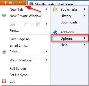 Firefox - On and off the Menu Bar toolbar