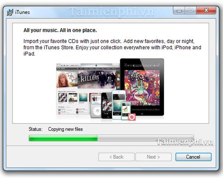 cai dat iTunes don gian