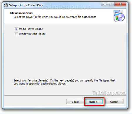 Install the k-lite codec pack on Win Xp