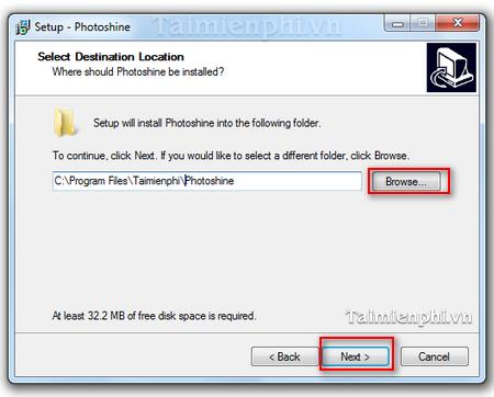 cach cai Photoshine