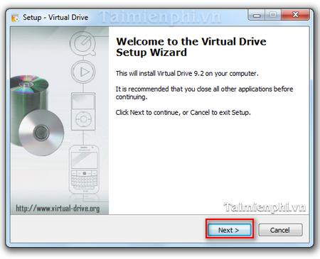 Cach cai dat Virtual Drive