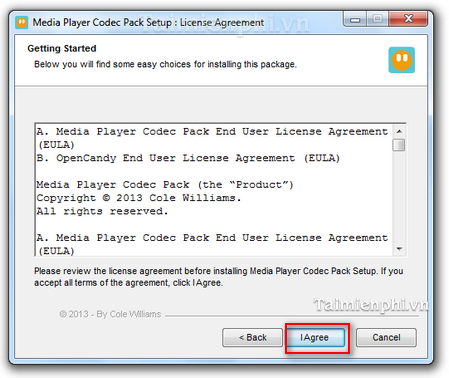 cach cai Media Player Code Pack