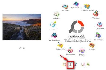 khoi phuc cai dat mac dinh trong PhotoScape