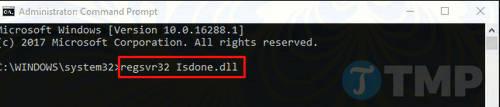 Sửa lỗi ISDone.dll trên Windows 10 8