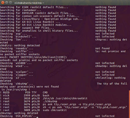 How to remove viruses and rootkits in linux 5