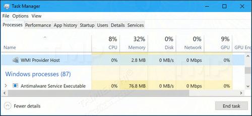 WMI Provider Host (WmiPrvSE.exe) là gì? Tại sao lại chiếm dụng nhiều CPU? 0