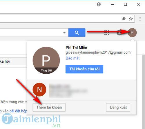 dang nhap nhieu tai khoan tren gmail