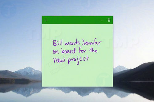 sticky notes cap nhat phien ban moi