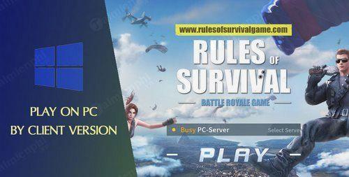 Cách cài Rules of Survival trên PC, Laptop, tạo tài khoản, đăng ký nick