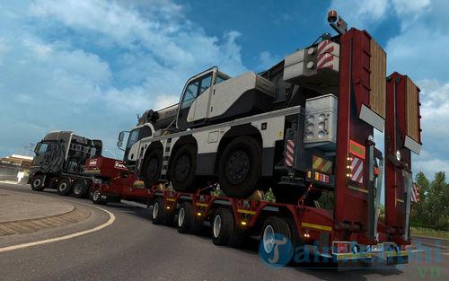 chơi euro truck simulator tren may tinh