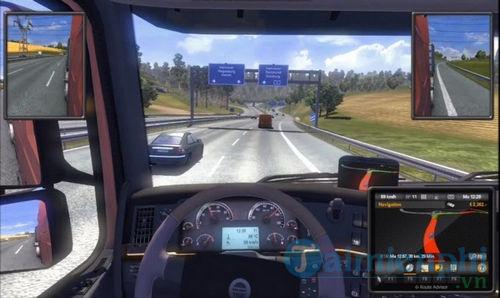 chơi euro truck simulator 2 tren may tinh