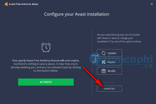 Cách gỡ Avast Free Antivirus khỏi máy tính 3