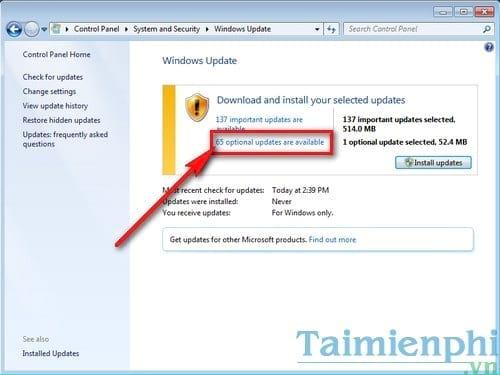 Hướng dẫn cài .NET Framework 4.5 bằng Windows Update trên Windows 7,8,10