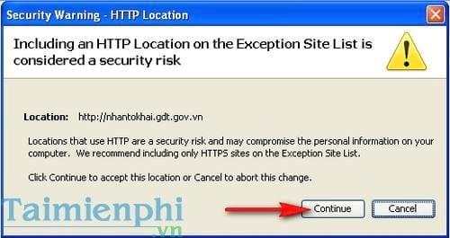 Cách sửa lỗi Application blocked by Java Security khi kê khai thuế qua mạng 4