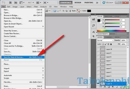 Cách chuyển Video sang GIF bằng Photoshop