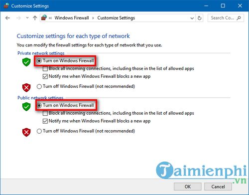 Cách bật, tắt tường lửa trên Windows 10, bật tắt Firewall 2