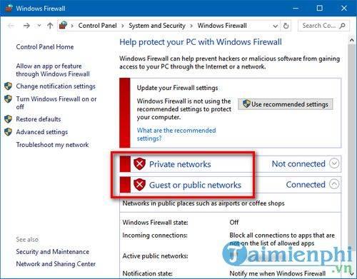 Cách bật, tắt tường lửa trên Windows 10, bật tắt Firewall 4