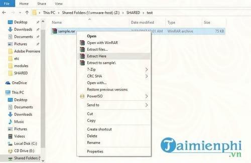 Cách giải nén file RAR trên Windows và Mac OS X