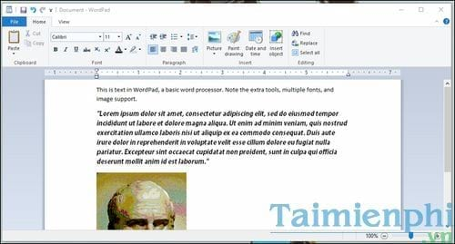 Differences between notepad and worpad in windows 4