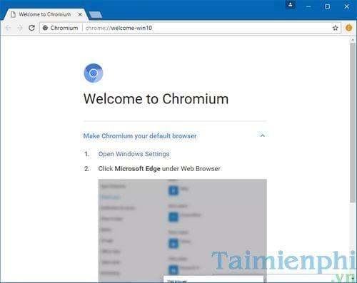 Cách cài Chromium trên máy tính Windows
