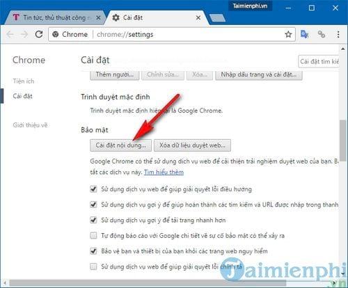Cách bật Flash trên Chrome, bật tắt Adobe Flash Player trên Google Chrome 2