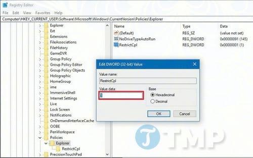 Thiết lập hạn chế quyền truy cập Control Panel và Settings trên Windows 10