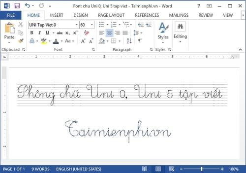 manual font uni tap viet 0 uni tap viet 5 on computer 4