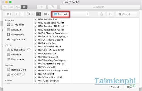 Cách cài font chữ trên Macbook, thêm font cho Mac