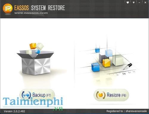 giveaway ban quyen mien phi eassos system restore sao luu va khoi phuc he thong 7