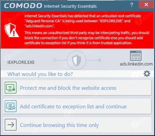 nhung diem moi trong phan mem diet virus comodo internet security essentials