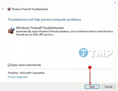sua loi windows defender firewall tren windows 10