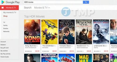 google play bo sung hdr cho cac bo phim