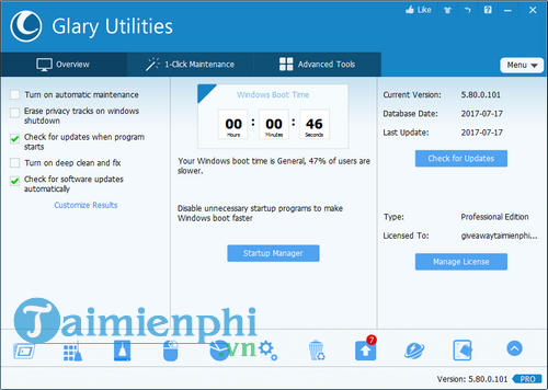 glary ultilities pro license free giveaway from computer system 6