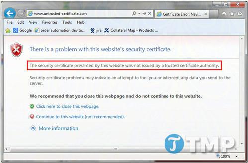 Khắc phục lỗi kết nối SSL