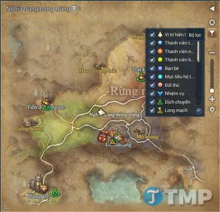 Bản đồ trong Blade and Soul, map nhỏ, map thế giới