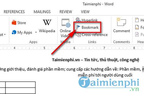 huong dan tao bookmark trong word 2016 don gian 3