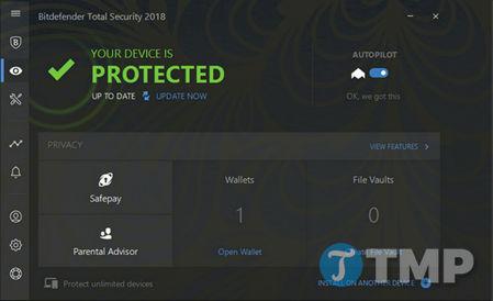 danh gia bitdefender total security 2018 bao mat windows khong the tot hon