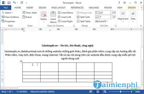 Chỉnh khoảng cách dòng trong table Word 4