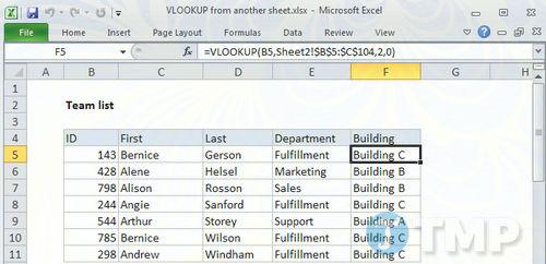Sử dụng hàm VLOOKUP để lấy dữ liệu từ Sheet này sang Sheet khác